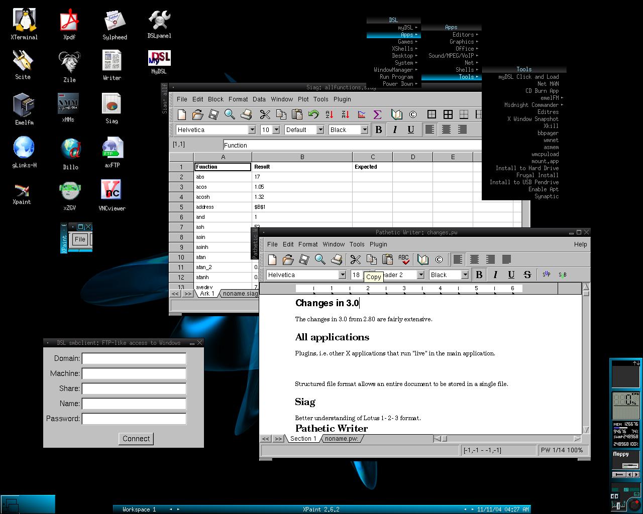 damn small linux установка на usb: